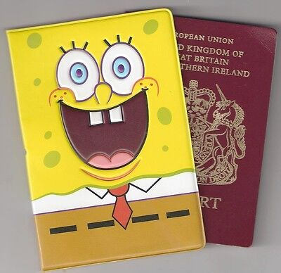 SpongeBob SquarePants Cute Passport Holder adorable bag travel gift