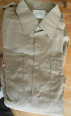 Army No2 Dress collar attached shirt 1980's issue