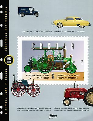 Canada 1996  # 5 Vehicle sheetlet 25 stamps cat#1605  MNH   BOOK GREEN