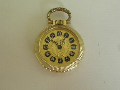 N.o.s. Vint.1955, Pendant Watch, Marty, Of Hand-Wound, Swiss Made Very Decorated