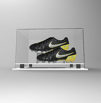 Double Boot /Shoe Display Case Acrylic Perspex - WHITE