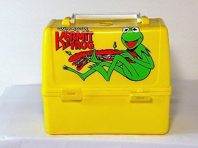The Muppets 1981 Kermit the Frog Lunchbox With Thermos VINTAGE