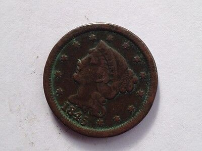 Group of Large Cents - 1844,1845,1827, 1824, 18?