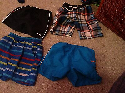 Bundle Of 4 Pairs Boys Shorts Slazenger George Ocean Pacific AGE 3-4