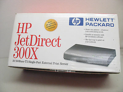 NEW   J3263A HP Jetdirect 300x Fast Ethernet Print Server  New In Box!
