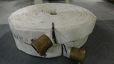 New Fire Hose 1.5 Inches 100 Feet with Brass Couplings