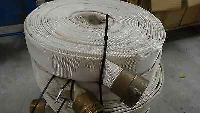 Fire Hose 1.5 Inches 75 Feet with Brass Couplings