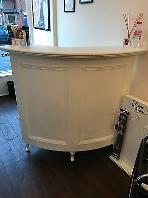 Shabby Chic White Curved Reception Desk