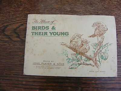 John Player Cigarette Card Album Birds And Their Young Full Set