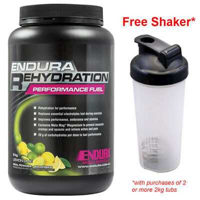 Free Shaker! Endura Performance Rehydration Energy Fuel 2Kg Lemon Lime Flavour*