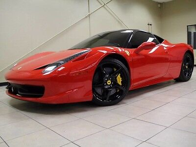 2010 Ferrari 458 Base Coupe 2-Door YELLOW CALIPERS, CARBON FIBER DRIVER ZONE, NAVIGATION, FINANCE UP TO 144 MONTHS