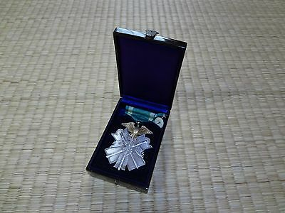 WW2 JAPANESE Silver Order of GOLDEN KITE 7th Class MEDAL BADGE ARMY NAVY AA1