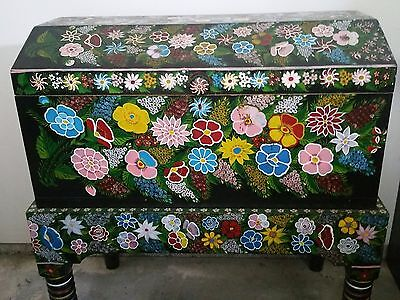 Antique Beautiful  Chest Hand made and all flowers are hand painted.