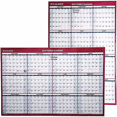 """At-A-Glance 2018 Yearly Planner PM26-28, Dry Erase Wall Calendar, 24 x 36"""""""