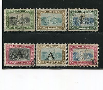 Colombia 1941-51 Air Post Library Used SCV $63