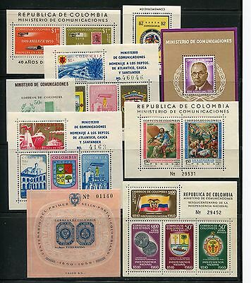 Colombia 1959 Souvenir Sheet Air Post Stamp on Stamp MNH//MLH SCV $64