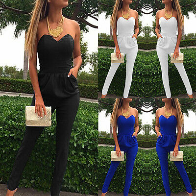 Women Ladies Clubwear Playsuit Sleeveless Bodycon Party Jumpsuit Romper Trousers