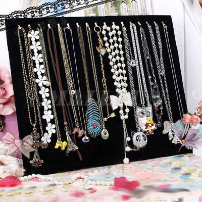 Velvet Necklaces Chain Stand Rack Holder Show Display Board Jewellery Organizer