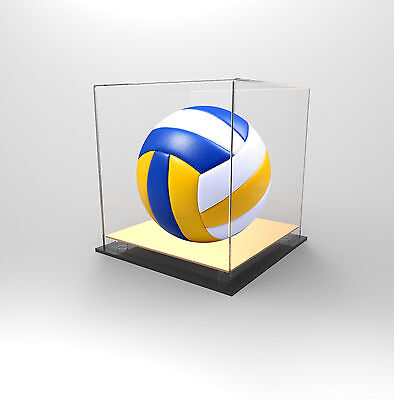 Volleyball Deluxe Display Case Acrylic Perspex - Competition Ball - GOLD