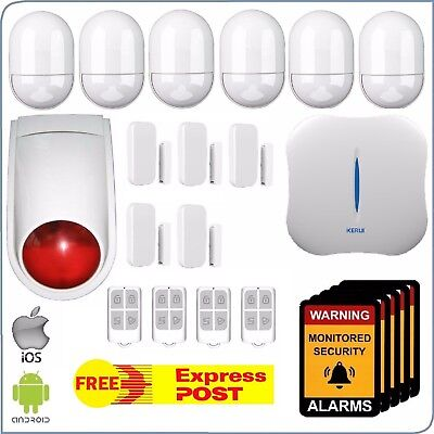 WiFi + PSTN Wireless Home Security DIY Burglar House Alarm System Android-iOS