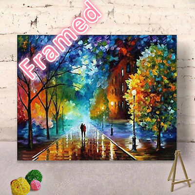 Framed 40*50 CM Painting by Number Kit Lovers S5 FUN ART DIY F002 OZ STOCK