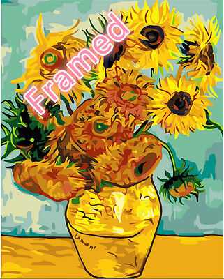 Framed 40*50cm Painting by Number Kit Sunflowers S5 AU STOCK F001 OZ STOCK
