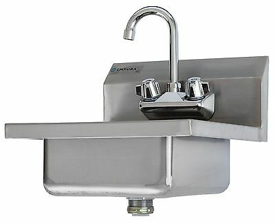 Commercial Stainless Steel Wall Mount Hand Washing Sink w/ Faucet