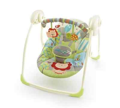 Baby Swing Infant Seat Soft Reclining Folding Non-Slip Newborn Chair with Toys