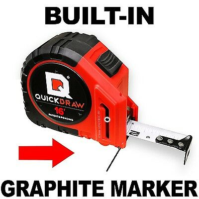 16' Foot QUICKDRAW PRO Self Marking Tape Measure - 1st Measuring Tape with a ...