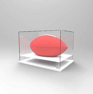 Gridiron NFL Football Deluxe Acrylic Perspex Display Case Autographed Ball WHITE