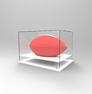 Gridiron/NFL Football Deluxe Display Case - Competition/Autographed Ball - WHITE