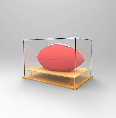 Gridiron/NFL Football Premium Display Case -Competition/Autographed Ball- TIMBER