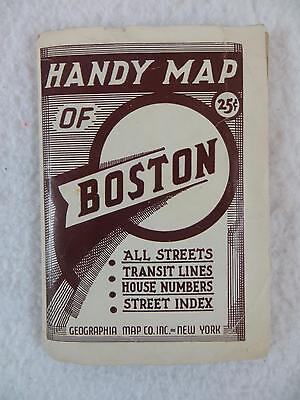 HANDY MAP OF BOSTON Transit Lines & House #s Alexander Gross Geographia Map Co.