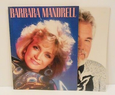 Kenny Rogers & Barbara Mandrell Tour Books 1987
