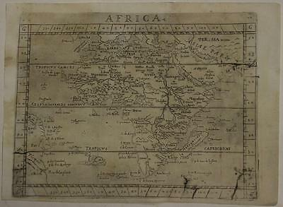 African Continent 1640 Botero Unusual Antique Original Copper Engraved Map