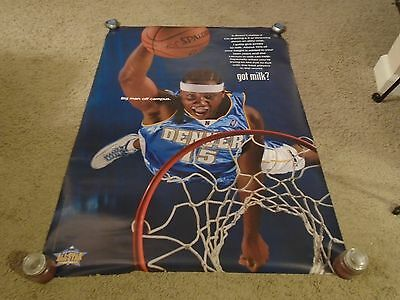 Carmelo Anthony Signed Poster 32X45 Got Milk Full Sig Rare Nuggets Proof Coa