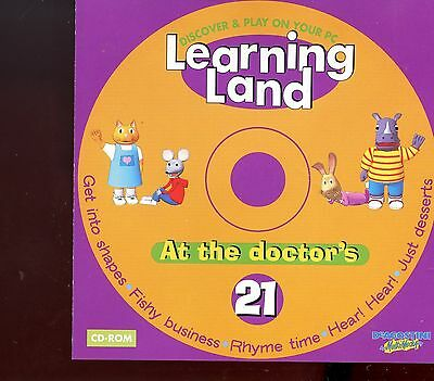 Learning Land PC CD Rom / No.21 - At The Doctor's - MINT