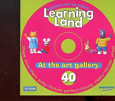 Learning Land PC CD Rom / No.40 - At The Art Gallery - MINT