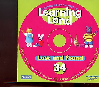 Learning Land PC CD Rom / No.34 - Lost And Found - MINT