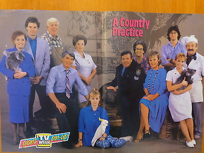 A Country Practice, pin up poster , TV Week , Vintage, Fatso TV Memorabilia