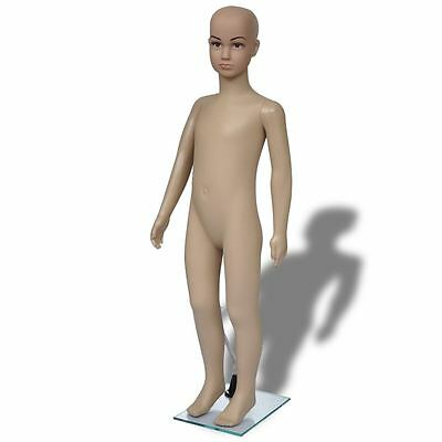 Child Mannequin Full Body PE Realistic Display Head Turns Dress Form w/ Base