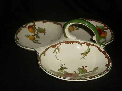 Winton Grimwades Hand Painted Clover Shaped Serving Dish w/ Handle No.575428
