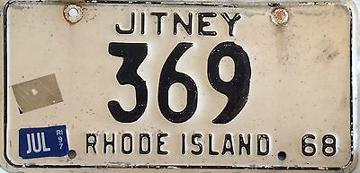 1968 Rhode Island Jitney License Plate Late Issue!