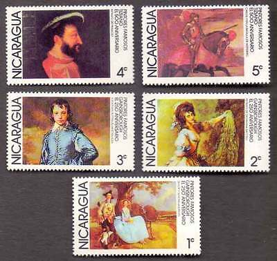 NICARAGUA (33/3) 1978 Famous Paintings 5 Diff. Stamps ! Mint (MNH)