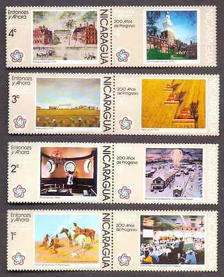 NICARAGUA (03/3) 1976 Agriculture, Horse, Science 4 Diff. Stamps ! Mint (MNH)