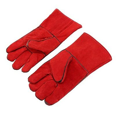 Welding Gloves Welders Leather Gloves Cowhide Pet Anti-Bite Safety Protective