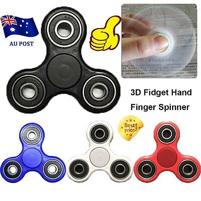 3D Fidget Hand Finger Spinner EDC Focus Stress Reliever Toys For Kids Adults BO