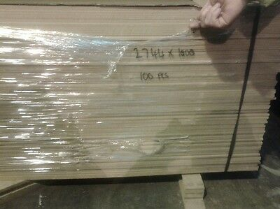 250 Pieces of New EGGAR Commercial Grade 6mm MDF 9ft x 39in (2744mm x 1000mm)