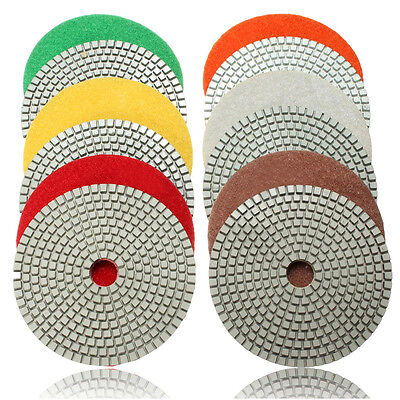 5 inch Wet Diamond Polishing Pads Sanding Disc Marble Granite Glass Concrete New