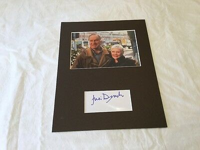 "Judi Dench As time goes by hand signed index card matted to fit 8""x10"" frame"